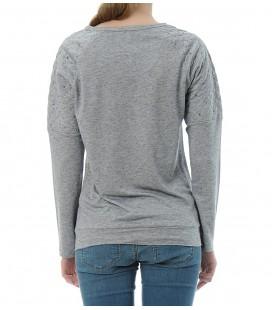 A detailed 164270-900 miss K stone blue sweatshirt sweat-shirt