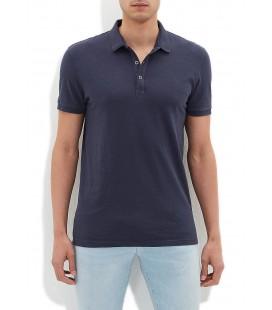 Blue Men's T-Shirt Navy Blue Polo T-Shirt, Slim Fit, 064491-23077