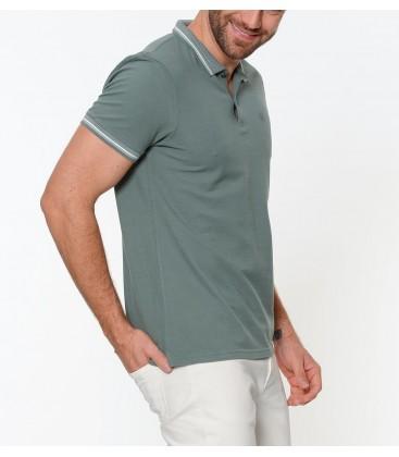 Blue Polo Shirt A Polo Shirt Yesil Leaf 064308-23642