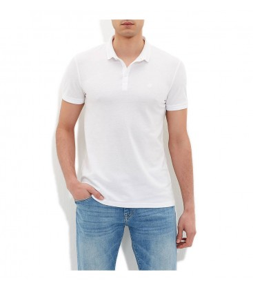 Blue Men's T-Shirt Polo Shirt White 064250-620