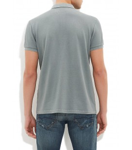 Blue Men's T-Shirt Semi Slim Fit Polo Shirt Yesil, 064107-23142