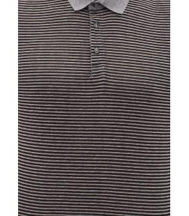 064329-900 A Polo Shirt Blue Striped Polo T-Shirt Black