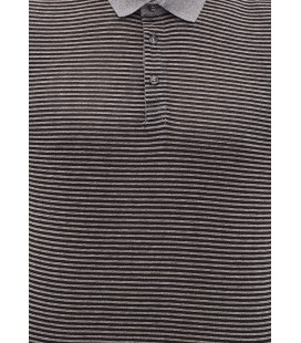 Mavi Polo Yaka Tişört 064329-900 Çızgılı Polo Tişört Siyah