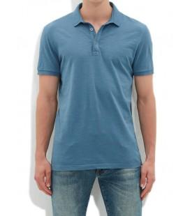 Mavi Polo Yaka Erkek Tişört Dar Kesim 064491-23635