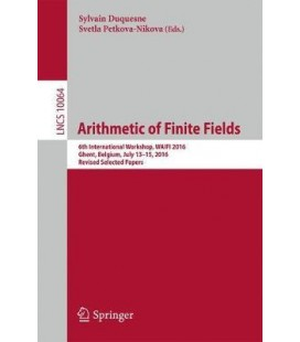 """Arithmetic of finite fields - 6th International Workshop, WAIFI 2016"