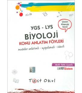YGS LYS Biyoloji Ders Anlatım Föyleri - Test Okul Yayınları