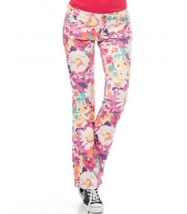 Blue Lady Pants | Printed Chichewa 951011220 Bella - 1069814788