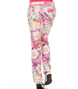 Mavi Bayan Pantolon | Bella Çiçek Baskılı 951011220 - 1069814788