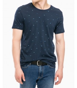 Navy Blue Printed T-Shirt 064385-24413