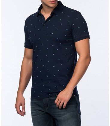 Blue men's printed T-Shirt 064380-24405