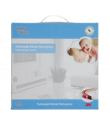 Baby&Plus Soft Köşe Koruyucu Siyah 200cm 3,4 cm