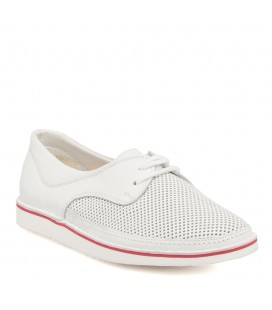 Z17I1AY63343 ladies shoes white leather Tergan