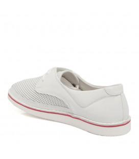 Tergan Beyaz Deri Bayan Ayakkabı Z17I1AY63343