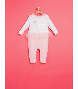 Ecru cotton Printed Jumpsuit 8KNG13090ZK03E
