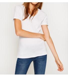 Lady's cotton V-neck T-Shirt 8KTK12951SK000