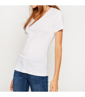 Koton Bayan V Yaka T-Shirt 8KTK12951SK000