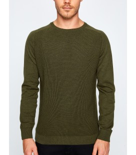 Cotton scoop-neck long sleeve sweater men's sweater plain 8KAM94560OT808