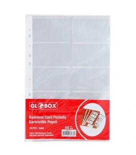 Globex business card holder Transparent Bag 200 6478 pkg
