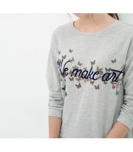 Bike women's cotton-Collar, Relaxed Cut, long-sleeved Sweatshirt 6KAL16936OK027