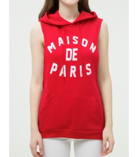 Cut women's casual, cotton, Sleeveless, Sweatshirts 6KAL16237OK444