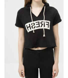 Women's Hoodie Cotton T-Shirt 6KAL11869OK999
