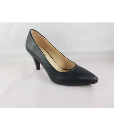 Linda Fione Bella Siyah Topoklu Bayan Ayakkabı