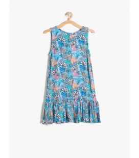 7YKG87371AW51E Floral cotton Girl Dress