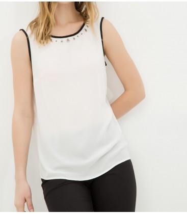 Koton Kolsuz, Beyaz Düz Bluz 6YAK32296CW001