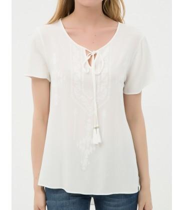 Ms. 6YAK63724EW001 Collar Detail cotton Blouse