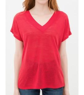 Koton Kadın V Yaka Kırmızı T-Shirt 6YAK13843QK401
