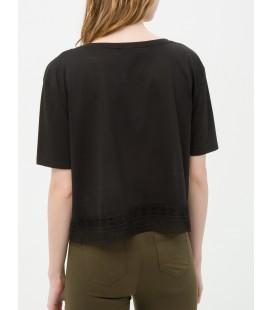 Cotton lace detail T-Shirt 6YAL11108JK999