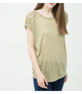 Koton Omuz Detaylı T-Shirt 6YAL11824OK802