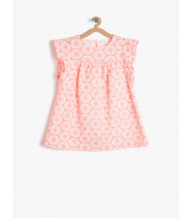 Kids Girl Pink Floral cotton Dress 7YKG87532GW909