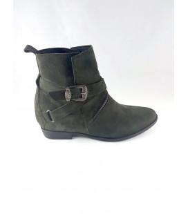 Hotiç Boots Women's Khaki Suede Half Sherina 326