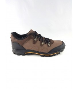 Lace-Up In Brown Black Men Sports Shoes