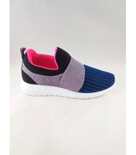 Women's Blue Sports Shoes Saks 80588-3014 Muya