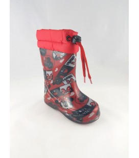 Detailed Mouse Red Children's Boots