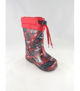 Kırmızı Mouse Detaylı Çocuk Çizme