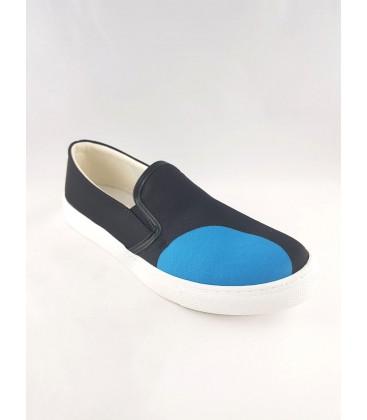 Siyah Mavi Detaylı Kadın Ayakkabısı