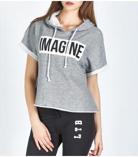 LTB Kadın T-Shirt ATAJET T/S GRİ 80150