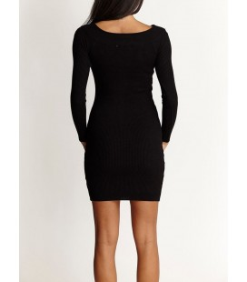 Jimmy Key Kadın Kayık Yaka Slim Triko Elbise JKPZF3204001