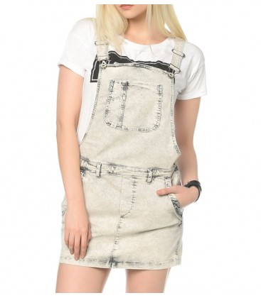 Salopet Skirt-Blue | Denim 130249-20226