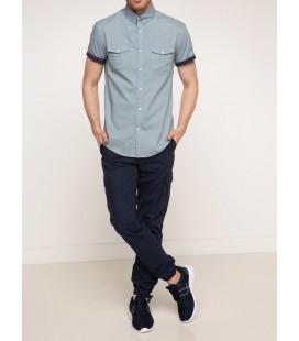 DeFacto men's Short Sleeve Voile Shirt G7213AZ.17SM.BE393