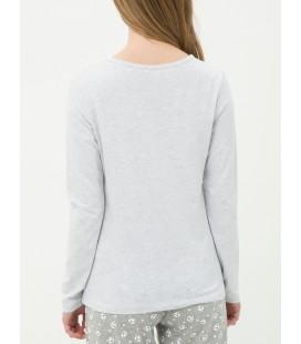 Women's cotton scoop-neck T-Shirt 7KLK73842BK