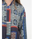 Patterned long sleeves cotton women's Jacket, 7KAK53621EWB51