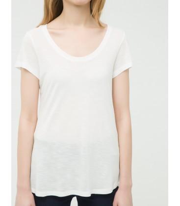 Koton Kadın Beyaz Düz T-Shirt 6YAK12298YK001