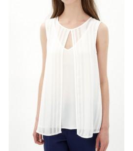 Women's Sleeveless cotton Blouse 7KAK33733EW001