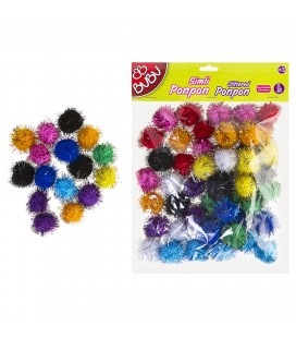 100 pcs 2cm Mixed Color Silvery Bubu Cheerleaders BU00112