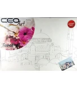 Ceo Art 35X50 Desenli Tuval (Boyasız) Ayasofya Tu0002