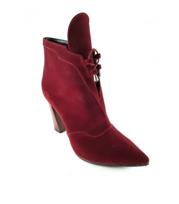 GD0015 red suede women's shoes